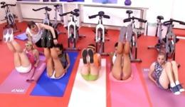 Watch prurient trainer fucking his fabulous trainees after exhausting exercises