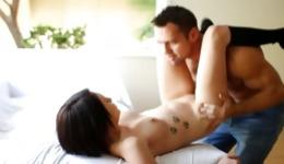 You will love this intercourse between tattooed brunette and harsh chap