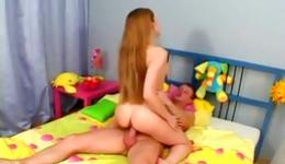 Check this out! Obscene and long-haired lassie getting long shaft inside her asshole