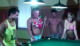 Watch the most prurient billiards game ever that ends up with a lot of sex