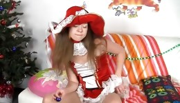 Splendid hottie gets banged hard by big panda toy