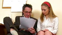 Light-haired dirty doxy is getting her hooked by a rude individual