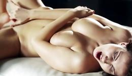 Dark-haired tramp is sexually fingering herself