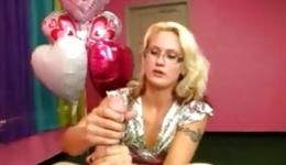 Birthday party where awesome and appealing milf sucks one long shaft