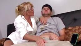 Depraved milf seduced young and attractive male with amazing member